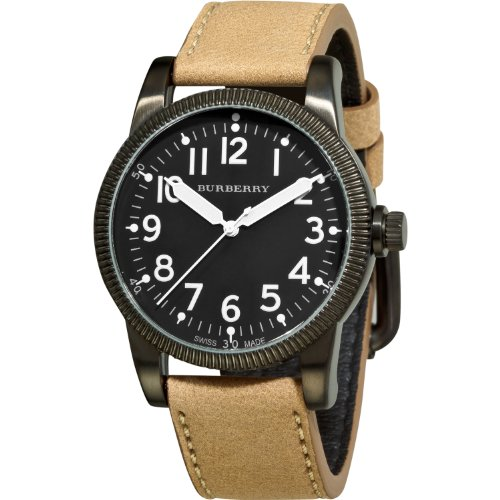 Burberry Men's BU7806 Military Black Dial luminous Hands Watch
