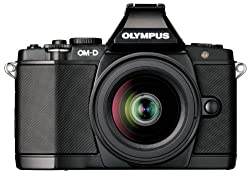 Olympus E-M5 16.1MP Live MOS Interchangable Lens Camera with 3.0 inch Titling OLED Touchscreen and 12-50mm Lens (Black)