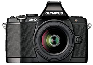 Olympus OM-D E-M5 16MP Live MOS Interchangeable Lens Camera with 3.0-Inch Tilting OLED Touchscreen and 14-42mm Lens (Black)