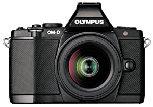 Olympus OM-D E-M5 16MP Live MOS Mirrorless Digital Camera with 3.0-Inch Tilting OLED Touchscreen and 14-42mm Lens (Black) (Discontinued by Manufacturer)