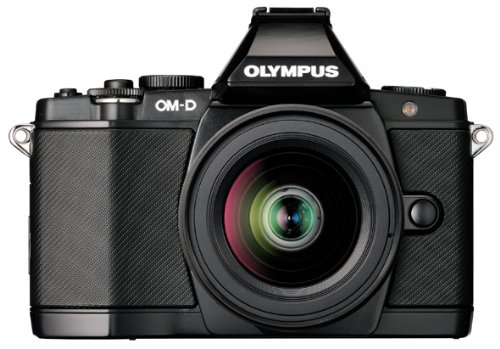 Olympus OM-D EM-5 black with 12-50mm lens