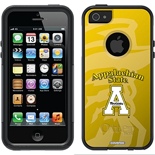Appalachian State Watermark Design On A Black Otterbox® Commuter Series® Case For Iphone 5S / 5