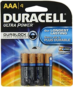 Duracell Ultra Power Aaa Batteries 4 Count (Pack of 2)