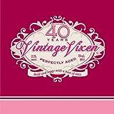 Creative Converting 16 Count Vintage Vixen 40th Birthday Beverage Napkins
