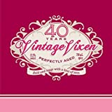 Creative Converting 16 Count Vintage Vixen 40th Birthday Beverage Napkins