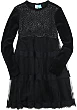 Blu by Blu Girls39 Velour and Lace Dress White Christmas Sizes 7-14