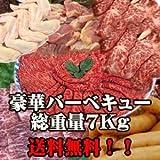 【送料無料】厳選・特選バーベキューセット 特製タレ、箸、紙皿付 総重量約7kg (20人前)