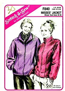 Stretch & Sew F840 Sewing Pattern Misses Salmon River Coat Bust 30 - 36