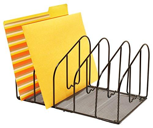 Decobros desk file sorter organizer 5 sections black - Desk organizer sorter ...