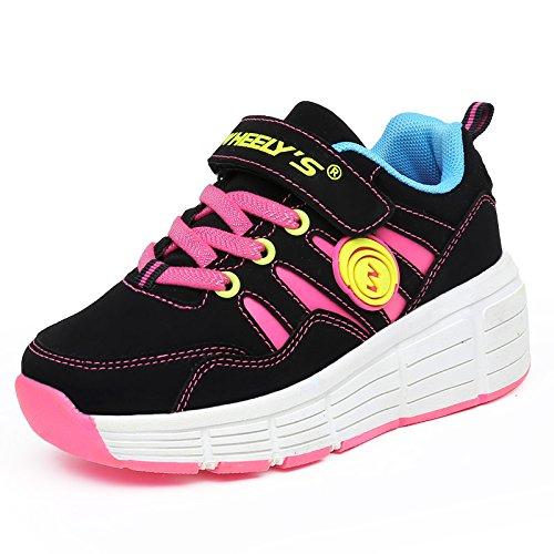 KE-Los-nios-unisex-de-luz-LED-zapatillas-con-ruedas-de-rodillos-Zapatos-Auto-prrafo-patines-noche-de-los-deportes-de-los-zapatos-corrientes