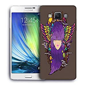 Snoogg purple haired woman 2686 Designer Protective Back Case Cover For Samsung Galaxy ON5