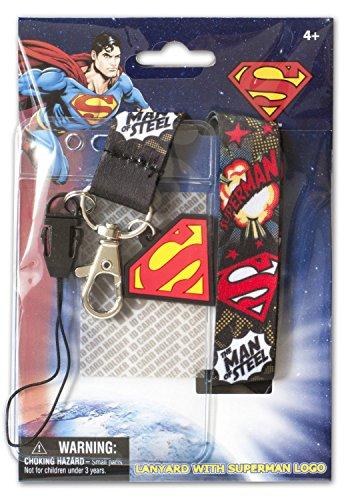 Black Superman Breakaway Lanyard With Id Holder