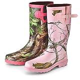 Women's Realtree Girl Rain Boots Realtree AP Pink Camo, REALTREE MAX 1 PINK, 7M