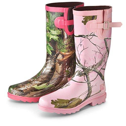 Women realtree pink camo rain boots