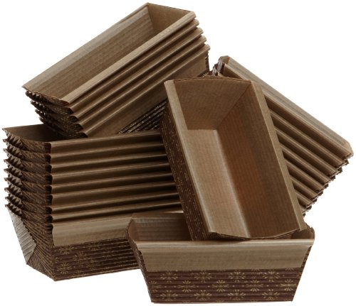 Kitchen Supply 4 x 2 x 2 Inch Paper Loaf Pan, Set of 25 (Mini Loaf Pans Disposable compare prices)
