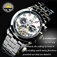 J HARRISON 【ジョン ハリソン】 ビッグデート付 手巻付自動巻 腕時計 JH-008WB