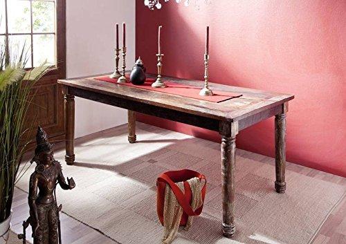 Vintage Vecchia quercia In Legno massello Mobili Tavolo da pranzo 180x90 Mobili in legno massello verniciato multicolore solido Legno Rapunzel #08