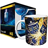 Doctor Who Exploding Tardis TV Show (Van Gogh's Exploding Tardis) Ceramic Boxed Gift Coffee (Tea, Cocoa) 11 Oz. Mug