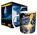 Doctor Who Exploding Tardis TV Show (Van Goghs Exploding Tardis) Ceramic Boxed Gift Coffee (Tea, Cocoa) 11 Oz. Mug