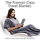 Travelrest 4-in1 Premier Class Travel Blanket with Pocket - Cover Shoulders - Soft and Luxurious (#1 BEST SELLER) - Stuff Sack Included