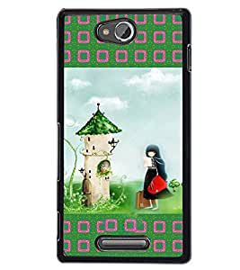 Fuson 2D Printed Girly Designer back case cover for Sony Xperia C - D4145