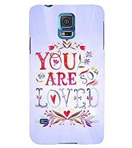 PRINTSWAG LOVE QUOTE Designer Back Cover Case for SAMSUNG GALAXY S5
