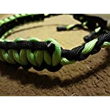Neon Green And Black Paracord Bow Wrist Sling With A Vein Of Neon Green By Bostonred2010