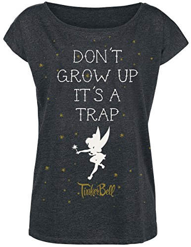 Peter Pan Tinker Bell - Don't Grow Up Maglia donna grigio scuro L