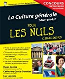 echange, troc Luc LANNOIS - La Culture générale - Concours de la Fonction publique Pour les Nuls Concours