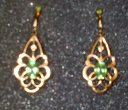 Antique Dangling Aquamarine Pierced Earrings