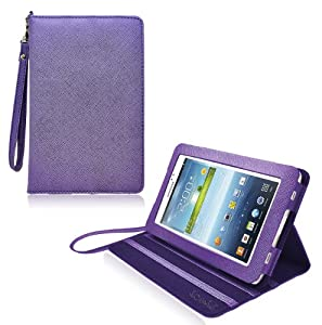 COD(TM) Stand Leather Case For Samsung Galaxy Tab 3 7 inch 7.0 (Purple)