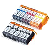 15 Pack Compatible Canon CLI-226 PGI-225 3 Small Black 3 Cyan 3 Magenta 3 Yellow 3 Big Black For Use With Canon...