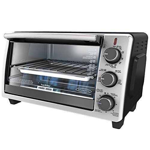 BLACK+DECKER TO1950SBD 6-Slice Convection Countertop Toaster Oven, Includes Bake Pan, Broil Rack & Toasting Rack, Stainless Steel/Black Convection Toaster Oven (Toaster Oven With Two Racks compare prices)
