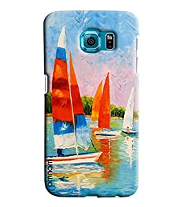 Omnam Boats Race Effect Printed Designer Back Cover Case For Samsung Galaxy S7 Edge