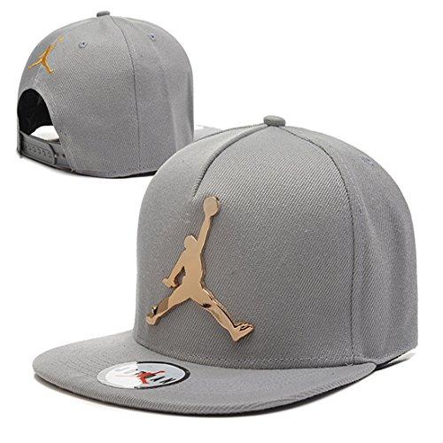 Eyike Jordan Iron standard hip-hop Cap NBA basketball Adjustable Hat color 1 One size
