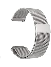 LoveBlue For Pebble Time Band Pebble Time Pebble Time Steel 22mm Magnetic Milanese Loop Stainless Steel Magnet...