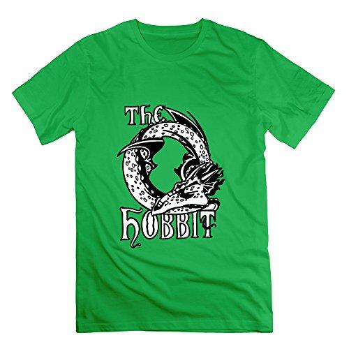 Youqian The Hobbit Theatrical Logo Funny Men's T-Shirt XX-Large ForestGreen Mens