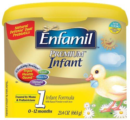 Enfamil Premium Infant Formula, For Babies 0-12 Months, 23.4-Ounce