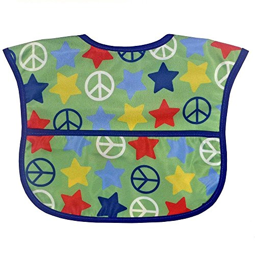Bibsters Peace and Stars Easy Clean Bib - Boy - 1