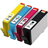 Remanufactured Ink Cartridge Replacement for New Generation HP 564XL CN684WN CN685WN CN686WN CN687WN (1 Black, 1 Cyan, 1 Magenta, 1 Yellow) Color: 4 PACK PC, Personal Computer