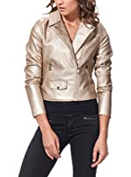 OSLEY PARIS Chaqueta Biker With Pocket Detail (Dorado)