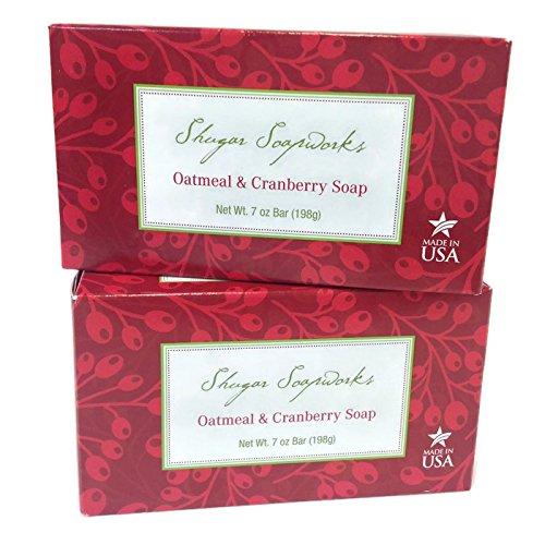 all-natural-shugar-soapworks-oatmeal-cranberry-soap-made-in-usa-7-oz-bar-2-packs