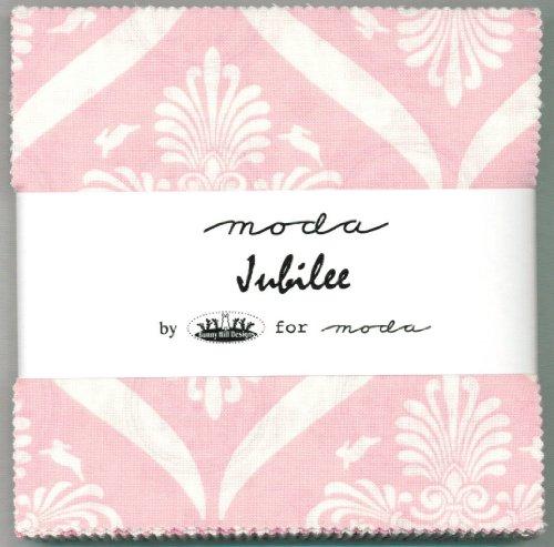 Moda Jubilee Charm Pack, Set of 42 5-inch (12.7cm) Precut Cotton Fabric Squares