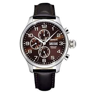 Ingersoll IN3900BR - Reloj de caballero automático, correa de piel color negro
