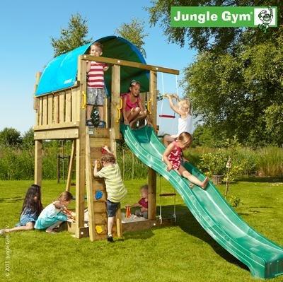 Jungle Gym Spielturm VILLA mit Rutsche - Grün