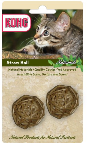 KONG Naturals Straw Ball Cat Toy (Colors Vary)
