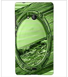 PrintDhaba Mirror D-3899 Back Case Cover for MICROSOFT LUMIA 540 (Multi-Coloured)