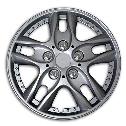 TuningPros WC2-16-5001-S 16-Inches-Silver Improved Type II Hubcaps Wheel Skin Cover Set of 4 (2004 Volkswagen Beetle Hubcap compare prices)