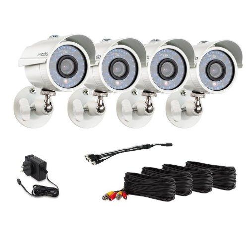 Zmodo Zmd-P4-Yaruz4Zn 700Tvl High Resolution Outdoor Security Cameras (Beige)