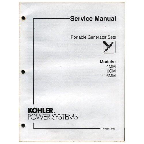 Original 1993 Kohler Rv/Mobile Generator Sets Service Manual No. Tp-5595 5/93